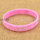 KPOP Star Silicone Wristband BIGBANG INFINITE BTS EXO Support Bracelet Rubber <br/> Free shipping/25 choices/wholesale/Fanmade/