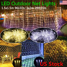 96/200led Net Mesh Led Lights String Outdoor Party Decoration Xmas Us Plug 110v