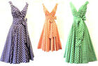 "New Retro Vtg 1950's Classic""Gina"" Polka Dot Full Skirted Summer Swing Tea Dress"