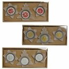 Christmas Tealight Candle & Holder Set - Tree, Star, Snowflake Choose Colour