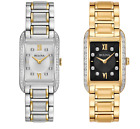 Bulova Women's Diamond Markers Quartz Silver-Tone or Gold-Tone 35mm Watch image
