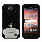 For ZTE Overture 2 / ZTE Atrium Dual Layer Hybrid Kickstand Fitted Case Cover