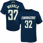 Eric Weddle San Diego Chargers Youth Navy Blue Mainliner Name & Number T-Shirt