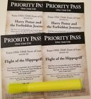 4 Universal Studios Hollywood Priority Fast Pass Harry Potter rides 2 of each
