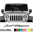 Soot Happens Script Windshield Decal Sticker rzr diesel race drag spider turbo