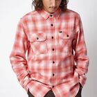 NEW OBEY MENS SHRINER PLAID FLANNEL LONG SLEEVE BUTTON UP SHIRT