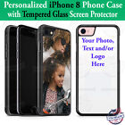 Custom Phone Case Cover Personalized Picture Photo Fits iPhone 8 / Screen Glass