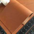 Внешний вид - 1.8-2mm Thick light Brown Full Grain Leather Pieces Craft Vintage Cow hide Scrap