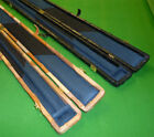 3/4 DISTRESSED LEATHER SNOOKER CUE CASE / POOL CUE CASE PATCHWORK COVERING