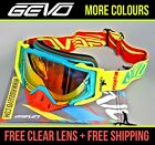KTM Goggles MX Motocross Enduro off road gear kit 100 present gift Sxf EXC Moped