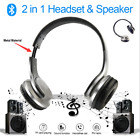 Bluetooth Collapsible HD Headphones and Stereo Speakers Twist out Two Way Talk
