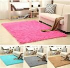 Soft Fluffy Rugs Anti-Skid Shaggy Area Rug Dining Room Home Bedroom Carpet Mat