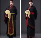 Chinese Men's Han Clothing Emperor Prince Show Cosplay Suit Robe Ancient Costume