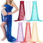 Pregnant Women Lace Strapless Long Ball Gown Wedding Party Fancy Maternity Dress