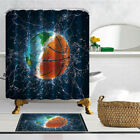 Creative basketball Shower Curtain Bathroom Decor Polyester & 12hooks 71*71inch
