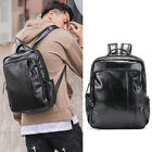 Men's Small Faux Leather Backpack Rucksack Daypack College School bag Travel Bag