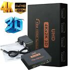 Ultra HD 4K 4 Port HDMI Splitter 1x4 Repeater Amplifier 1080P 3D Hub 1In4 Out