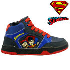 NEW BOYS INFANT SUPERMAN HI TOP SCHOOL BOOTS TRAINERS LACE UP KIDS SHOES SIZE