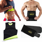 US Mens Gym Sauna Sweat Suit Body Shaper Belly Tummy Trimmer Slimming Shirt Vest