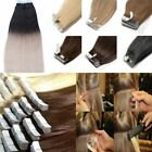 Seamless PU Skin Weft Tape in Double Drawn Remy Human Hair Extensions 14-26Inch