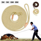 Nylon Dog Tracking Leash Recall Training Obedience Rope Rolled Long Line Leads