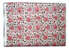 Cotton Voile Fabric Natural Crafting Hand Block Print fabric By the yard V-57
