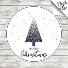 MERRY CHRISTMAS ROUND EDIBLE BIRTHDAY CAKE TOPPER DECORATION PERSONALISED