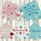 STARS PERSONALISED BABY TAGGY TAGGIE BLANKET COMFORTER BOY GIRL GIFT TAG SOFT
