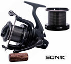 Q DOS Large Big Pit 5BB Large Carp Fishing Reels Free Runner With Spare Spool