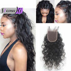 "7A Virgin Human Hair Curly Wave 4*4"" Lace Front Closure Bleach knots 8-20"""
