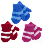KIDS BABIES BOYS GIRLS SOFT TOUCH STRIPED MAGIC MITTENS XMAS WINTER ONE SIZE NEW