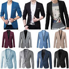Men's Slim Fit Tops Suit Formal Casual Blazer One Button Business Coat Wedding