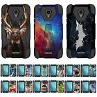 For Alcatel Raven / IdealXCITE Dual Layer Hybrid Shell Kickstand Fitted Case