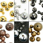 100pcs Copper Round Beads Gold, Silver, Gunmetal Plated 4mm 6mm 8mm 10mm 12mm