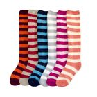 Women Girl KNEE HIGH SOCKS Super Soft Skid Slipper Cozy Fuzzy Winter Striped Lot