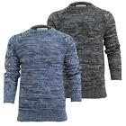 Mens Jumper Knitted Brave Soul 'Cladius' Sweater Crew Neck Pullover S-XL