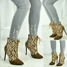 New Womens Ladies Ankle Boots Stiletto Kitten Heel Party Pointed Toe Shoes Sizes