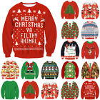 Unisex Ugly XMAS Christmas Sweater Vacation Santa Elf Funny Women Men Sweatshirt