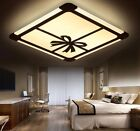 Rectangular LED Ceiling Light Bedroom Lamps Creative Bow Double Color Lights