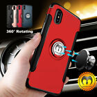 For iPhone X 8 7 6S 6 iPhone8 Plus Ring Stand Shockproof Rugged Slim Case Cover