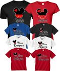Mom And Dad And Family Mickey Minnie NEW Disney funny cute Customized T-Shirts