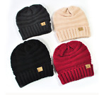 Winter CC Beanie Women Men Unisex Knit Slouchy Oversized Thick Cap Hat Slouch