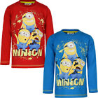 OFFICIAL MINIONS BOY TOP VARIOUS COLOURS & SIZES NEW WITH TAG REDUCED CLEARANCE