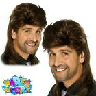 1980s Brown Mullet Wig Jason Donovan Classic Fancy Dress Costume Accessory