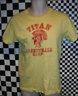 VINTAGE 1970'S HANES TITAN BASKETBALL CAMP T SHIRT SIZE M MADE IN USA L@@K