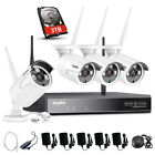 SANNCE Wireless Security System 1080P HDMI 4CH NVR 720P WiFi Outdoor IR Camera