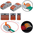 3x Spring Lever Terminal Block Electric Cable Wire Connector PCT-212/213/215 New
