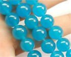 Natural 6mm~10mm South African Blue Topaz Gems Round Loose Beads 15