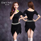 Practice Model Short Sleeve Sexy Belly Dancing Costumes Set Dress M L