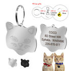 Cat Tag Engraved Disc 25mm Cat Face Personalized Cat Kitten ID Name Collar Tags